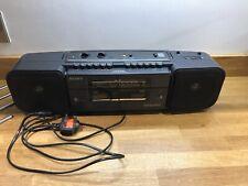 SONY Boombox CFS-W308L TWIN DECK Retro CASSETTE RECORDER- Read Description