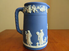 "Vintage Blue And White Wedgwood Jasperware Pitcher Creamer #30, 5.5"" High"