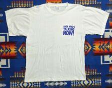 VTG 90s Look Who's Talking Now! John Travolta Kids Movie Promo T-Shirt XL