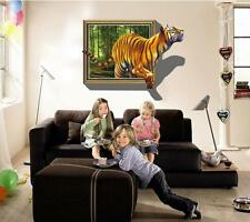 Tiger 3d image Home Decor Removable Wall Sticker Decal Decoration Vinyl Mural