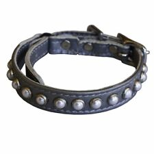 South Sea Pearl Leather Safety Cat Collar - Fairy Tale (Silver)