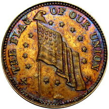 The Flag Of Our Union Shoot Him On The Spot Dix Patriotic Civil War Token