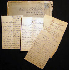 1892 LETTERS FROM AMERICAN EXPATRIATE ITALY WRITES NY LAWYER ON INVESTMENTS