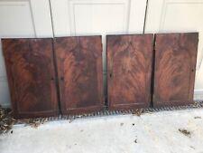 Set of 4 Salvaged Mahogany Veneered Doors