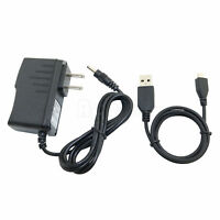 AC/DC Adapter Power Charger + USB Cord for Velocity Micro Cruz Tablet T104 T103