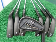 Wilson Staff FG Tour M3 Forged Black 4-PW Iron Set R300 Steel Shaft Irons NEW +1