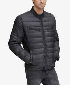 Marc New York Grymes Packable Racer Jacket Mens Small Black $275