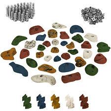 35 Kinder Klettergriffe Klettersteine inkl. Schrauben und 100 Einschlagmuttern