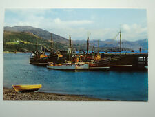 Old colour PC The Pier, Ullapool. Ross & Cromarty. Unposted. Fishing Boats.