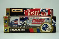 Matchbox New York NY Giants Limited Ed 1993. Hauler Truck Collectible *NEW*