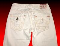 "TRUE RELIGION JEANS JOEY Women's Sz 26 (27"" W x 27.5"" L measured) White Flare"