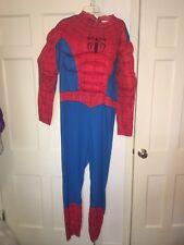 Marvel Spiderman Mens XXL 50-52 Costume Halloween Cosplay Mask Hood