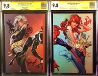 AMAZING SPIDER-MAN #801 & #1 CGC SS 9.8 J SCOTT CAMPBELL VARIANT VENOM BLACK CAT