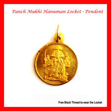 Hanuman Locket Pendant Yantra Veer Panch Mukhi Hanuman -Hanuman Locket + Thread