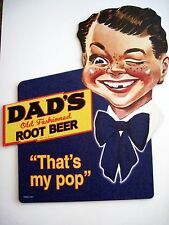 """1950 """"Dad's Root Beer"""" Advertising Cardboard Stand Up Sign *"""