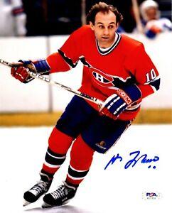 Guy Lafleur autographed signed 8x10 photo NHL Montreal Canadians PSA COA