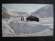 Athabasca Glacier Great Columbia Icefields Snowmachine Postcard~Edmonton Alberta