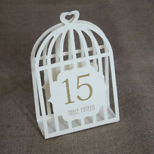 Wedding Table Numbers Bird Cage Table Numbers Ivory (1-15) Laser Cut