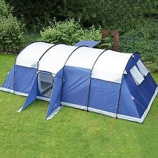Skandika Milano 10 Person/Man Large Family Tunnel Tent Sewn-in Groundsheet