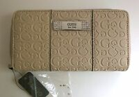 New GUESS Women Wallet Cream Purse G Logo