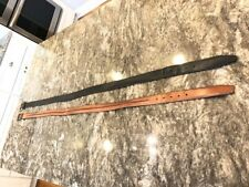 """2 Men's 46"""" Leather Belts (one black, one brown)."""