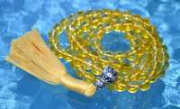 Citrine Crystal Knotted Mala Beads Necklace Genuine Mala for Abundance AAA Novem