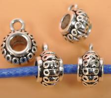 30pcs Tibetan silver charm beads bail jewelry Connectors Bails DIY pendant 14mm