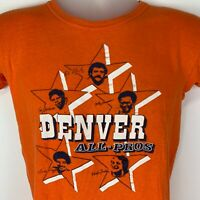 Vintage 1977 Denver Broncos All Pros Small T Shirt NFL Football Graphic Tee