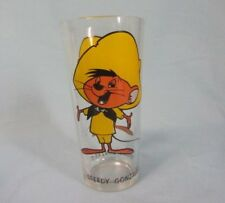 FEDERAL PEPSI COLLECTOR SERIES LOONEY TUNES SPEEDY GONZALES GLASS BLACK LETTERS