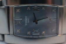 TISSOT GENROSI-T T007309 A Mother Pearl Diamond Sapphire Crystal WatchBox+Papers
