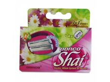 DORCO SHAI 3+3 BLADES CARTRIDGES WOMEN RAZOR 4 PCS