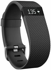 FITBIT Charge HR Heart Rate + Fitness Activity Tracker Wristband Black - Large