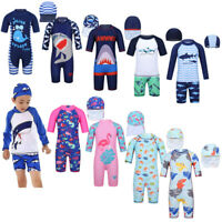 Toddler Kids Child Sun Protective Swimwear Swimsuit Swim Cap Rash Guard Costume