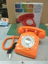 Steepletone STP1960 Retro Style Bright orange Rotary dial Telephone