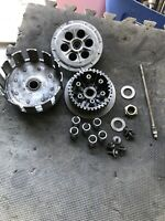 88-93? 1991 91 KX250 CLUTCH ASSEMBLY PRIMARY DRIVEN GEAR BASKET HUB See Pics A