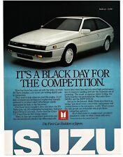 1987 Isuzu RS TURBO IMPULSE White 2-door Coupe Sports Car Vintage Ad