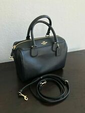 NWT Coach Bennett Satchel Crossbody Shoulder Handbag Purse Black Leather F32202
