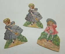 3 Vintage Estey Organ Die cut Stand Up Trade Cards