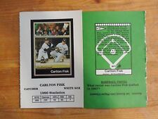 1X CARLTON FISK 1991 Ballstreet #47 UNCUT PROMO SAMPLE PROTOTYPE  Lots Available
