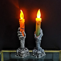 Ghost Candle Light Battery Operated Halloween Party Decor LED Electronic