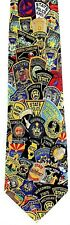 NEW! Policeman Cop Police Highway Patrol State Badges Novelty Necktie #1173