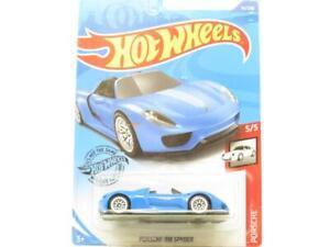 Hot Wheels Porsche 918 Spyder Blue 94/250 Long Card 1 64 Scale Sealed New
