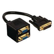 Glaxio DVI a VGA Cavo Splitter (DVI-I 24+5-pin maschio a 2x VGA FEMMINA) 0.2m