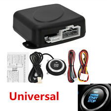Auto Car Alarm System Security Keyless Entry Engine Start Push Button Remote Kit