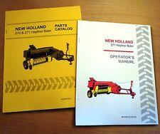 New Holland 271 Hayliner Baler Operator's AND Parts Manual Catalog Book NH