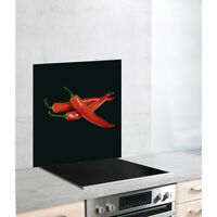 WENKO Glasrückwand Hot Peperoni 60 x 70 cm Herdabdeckplatte unbenutzte B-Ware