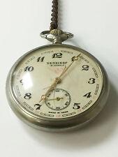 Serkisof Molnia 18 Jewels Made in USSR Railroad Caseback 1960's Pocketwatch