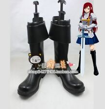 FAIRY TAIL Erza Scarlet black Cosplay Boots Shoes Halloween Christmas