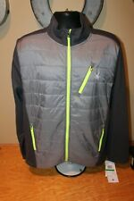 SPYDER Full Zip Hydroweb Jacket Sweater Alloy Fleece Lined Mens LARGE NWT $169