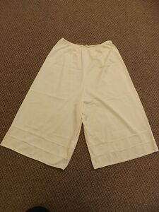 Vtg  Wonder Maid Ivory Nylon Below Knee Length Pettipants Half Slip Bloomers M